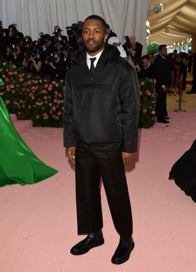 "Frank Ocean, prada, attends The Metropolitan Museum of Art's Costume Institute benefit gala celebrating the opening of the ""Camp: Notes on Fashion"" exhibition, in New YorkCostume Institute Benefit celebrating the opening of Camp: Notes on Fashion, Arrivals, The Metropolitan Museum of Art, New York, USA - 06 May 2019"