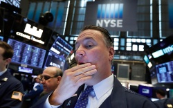 Trader Jonathan Corpina works on the