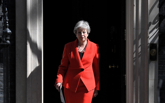 Theresa May announces her resignation outside No.10 Downing StreetPrime Minister Theresa May makes resignation statement in Downing Street, London, UK - 24 May 2019