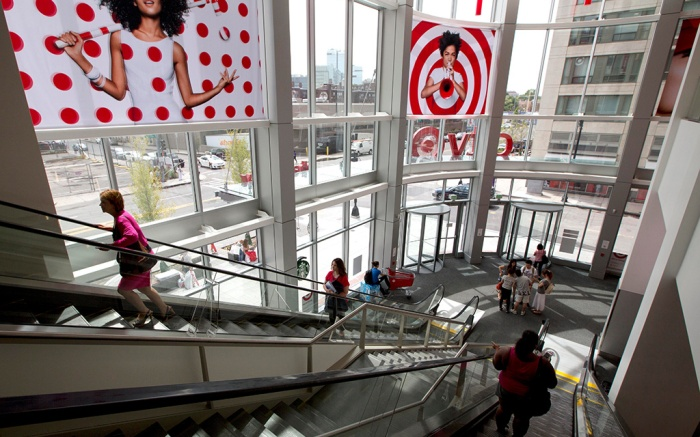 This photo shows the entrance to the CityTarget store in BostonTarget, Boston, USA