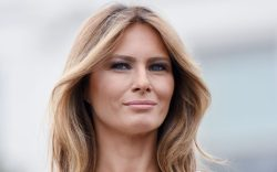 First Lady Melania Trump attends the