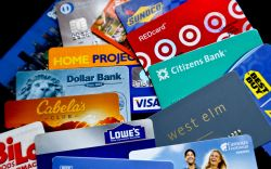 An assortment of credit cards and