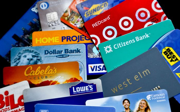 An assortment of credit cards and rewards cards are shown in Zelienople, Pa. Credit cards that are affiliated with brands are suddenly amping up rewards for everyday purchases at restaurants, gas stations and grocery stores. These rewards cards, co-branded by the issuer and a retail brand, were formerly one-trick ponies that were best for purchases at a single merchant only. But with better rewards, the cards are now becoming more useful for consumersNerdWallet-Cobrand-Card-Rewards, Zelienople, USA - 31 Jan 2018