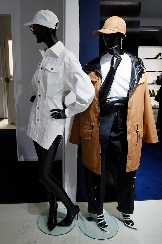 Designs are displayed as Rihanna unveils her first fashion designs for Fenty at a pop-up store in Paris, France, . Singer Rihanna is the first black woman in history to head up a major Parisian luxury house, and the collection, named after the singer turned designer's last name, comprises of ready-to-wear, footwear, accessories, and eyewear and is available for sale Paris' Le Marais area from Friday and will debut online May 29Rihanna, Paris, France - 22 May 2019