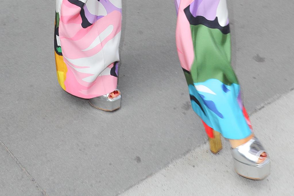 rita ora, escada fall 2019, nyc, street style, Giuseppe Zanotti Betty platform sandals