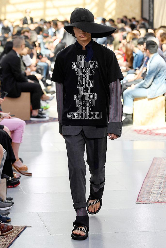 Sacai, spring 2020, Paris Fashion Week, Men's.