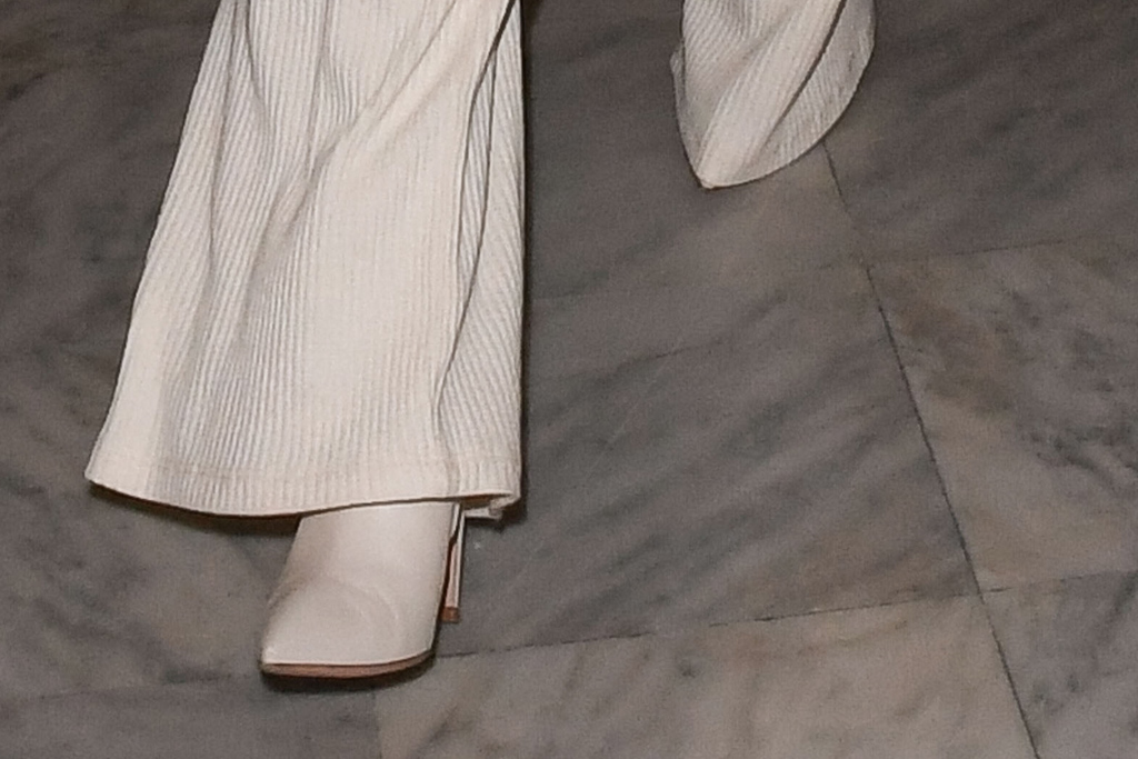 selena gomez, nice airport, cannes film festival, all white, white booties
