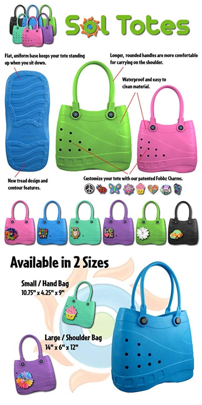 cros purse, crocs-like purse, optari sole totes