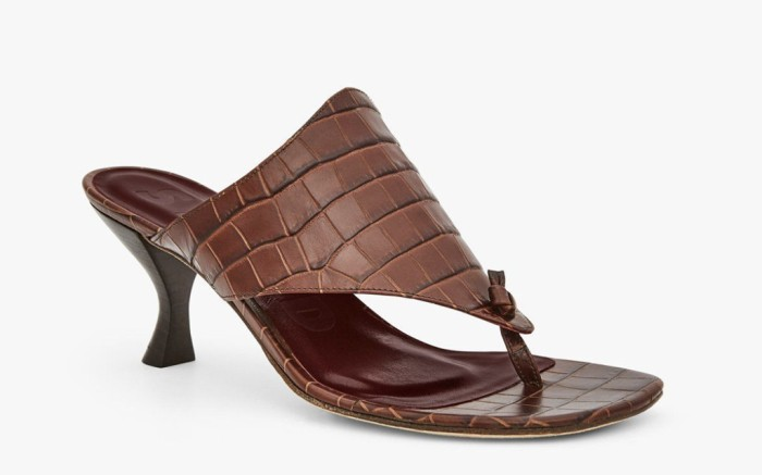 Keith Sandal Brown Croc Embossed Shoe, Staud, Spring 201Spring Trends, Mom Mules