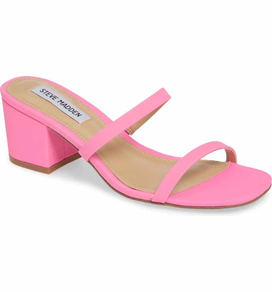 Steve Madden, pink shoe, mom mule, spring 2019 trends