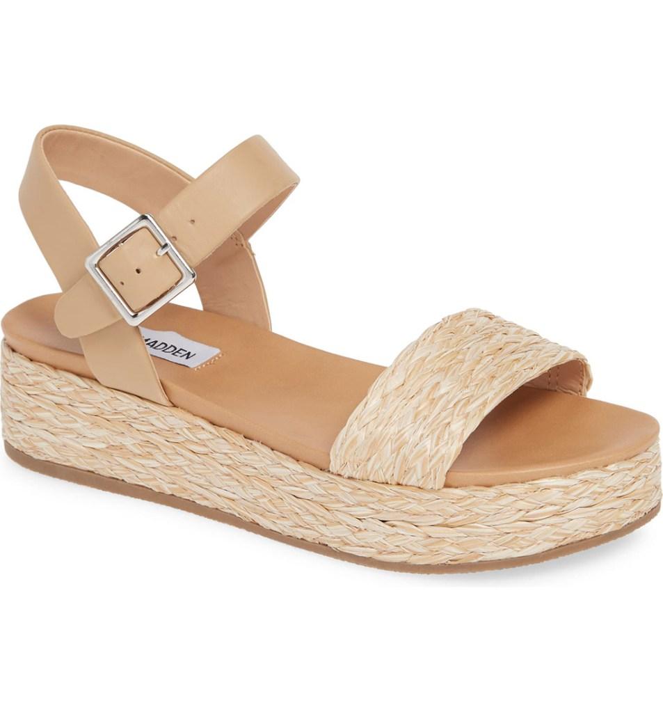 Steve Madden Accord Espadrille Platform Sandal, summer sandals, summer 2019 trends, beige shoe, espadrille, Steve Madden shoe