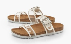 Clear Strap Footbed Sliders, summer 2019