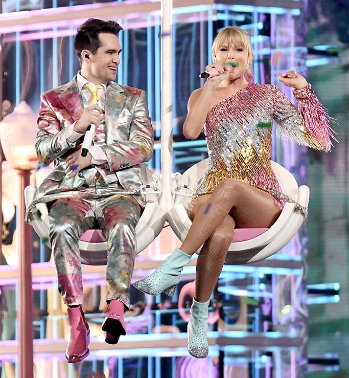 Brendon Urie and Taylor SwiftBillboard Music Awards, Show, MGM Grand Garden Arena, Las Vegas, USA - 01 May 2019