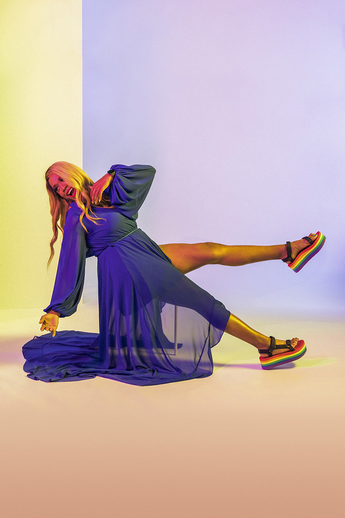 Teva Flatform Universal Pride Sandal (PRNewsfoto/Teva)