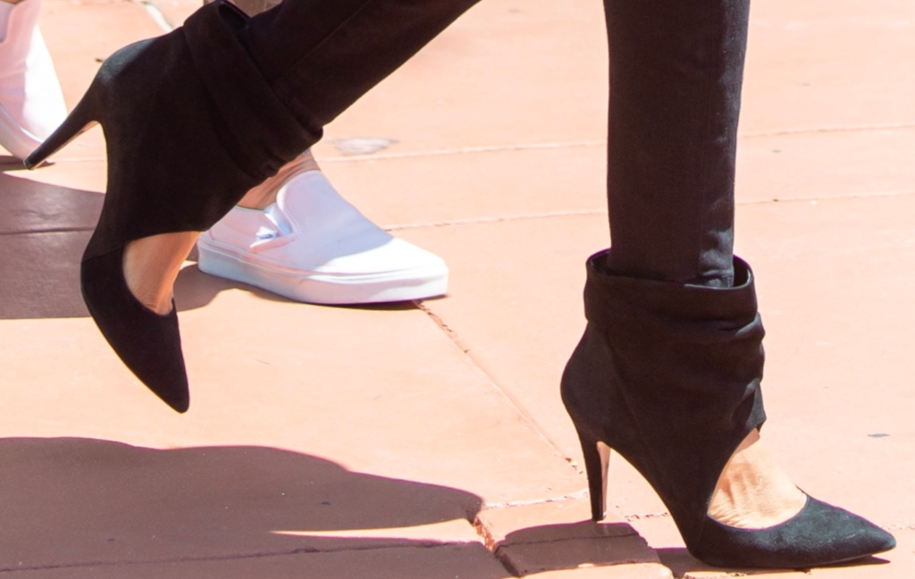 tyra banks cut-out ankle boots
