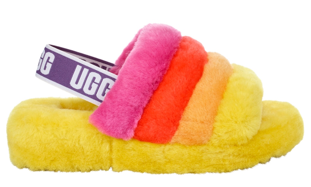 ugg Fluff Yeah slide for pride month