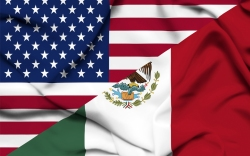 USA Mexico Flags