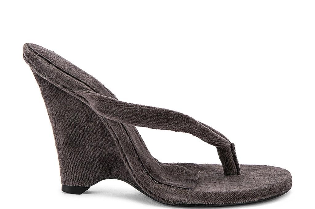 Yeezy, Yeezy SEASON 8 Terry Cloth Wedge Thong Sandal, flip flop heel, thong heel, summer 2019 trends