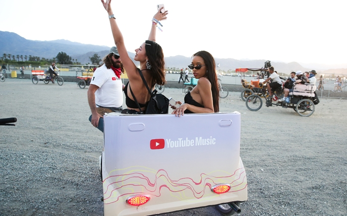 A YouTube activation at Coachella