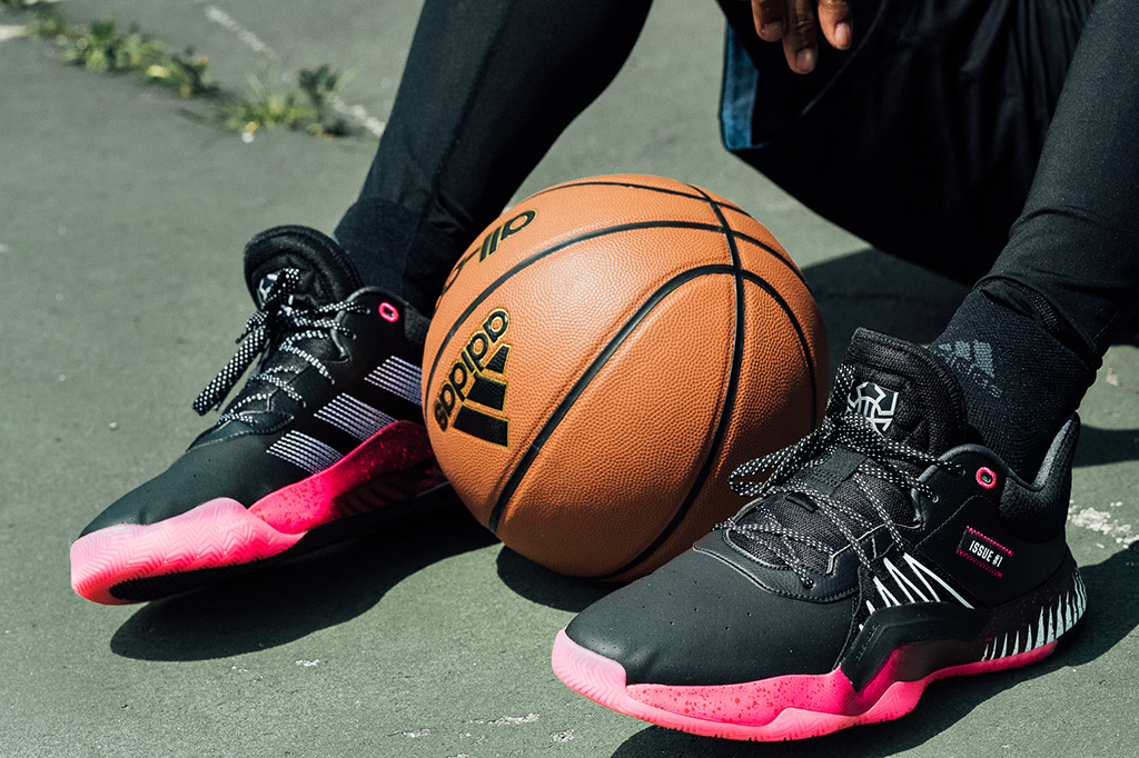 Symbiote Spider Man shoes, donovan mitchell adidas sneaker, pink and black