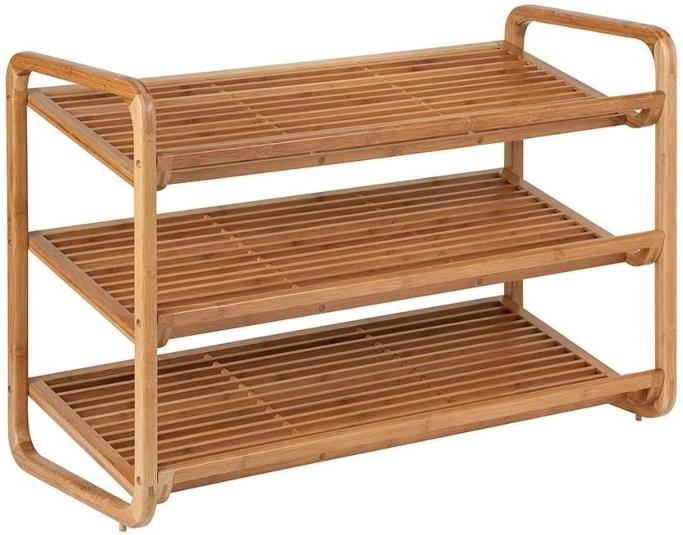 Honey-Can-Do Bamboo Shoe Shelf, freestanding shoe rack