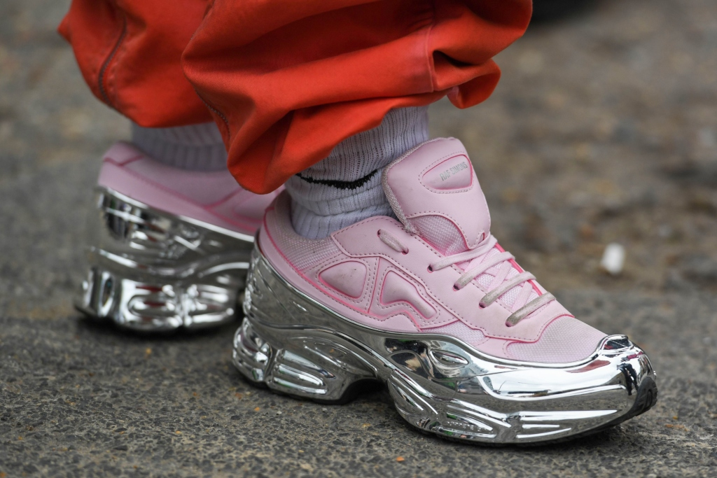 adidas by raf simons Ozweego sneakers, london fashion week men's 2019