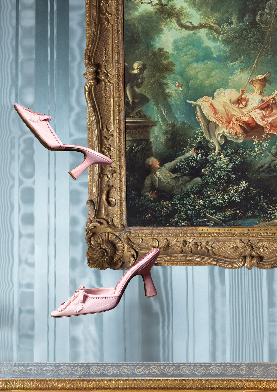 an enquiring mind exhibit, manolo blahnik, shoes, art, wallace collection museum