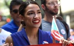Alexandria Ocasio-Cortez, puerto rican day parade,