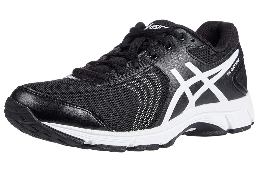 asics, walking shoes, black