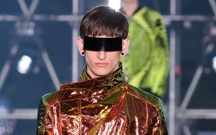 Model on the catwalkBalmain show, Runway, Spring Summer 2020, Paris Fashion Week Men's, France - 21 Jun 2019