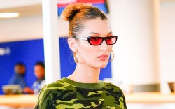 Bella Hadid, celebrity style, jfk airport,