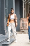 Bella Hadid seen showing off her abs while shopping in NYC