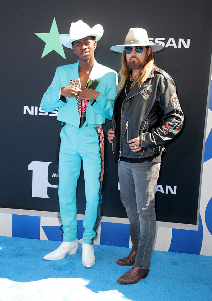 Lil Nas X and Billy Ray CyrusBET Awards, Arrivals, Microsoft Theater, Los Angeles, USA - 23 Jun 2019