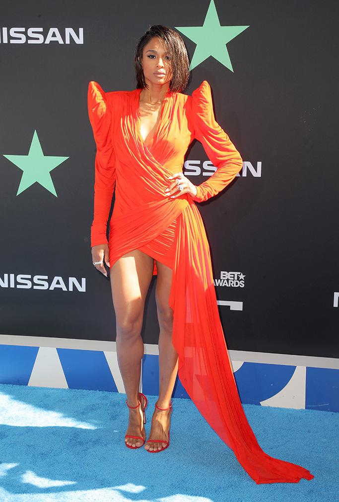 stuart weitzman, Ciara, BET Awards, Arrivals, Microsoft Theater, Los Angeles, USA - 23 Jun 2019