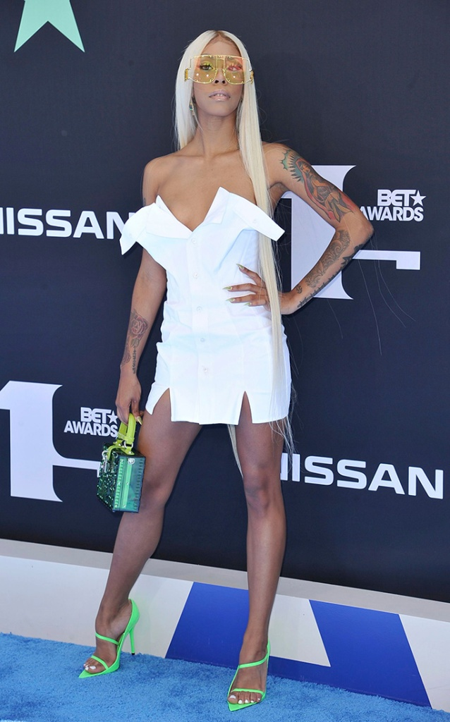 Rico Nasty arrives at the BET Awards, at the Microsoft Theater in Los Angeles2019 BET Awards - Arrivals, Los Angeles, USA - 23 Jun 2019