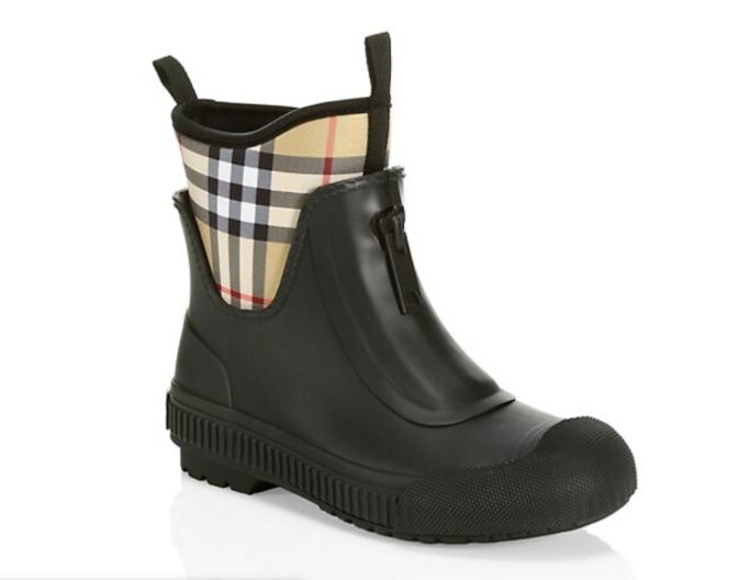 Burberry check rain boot, best rain boots for women