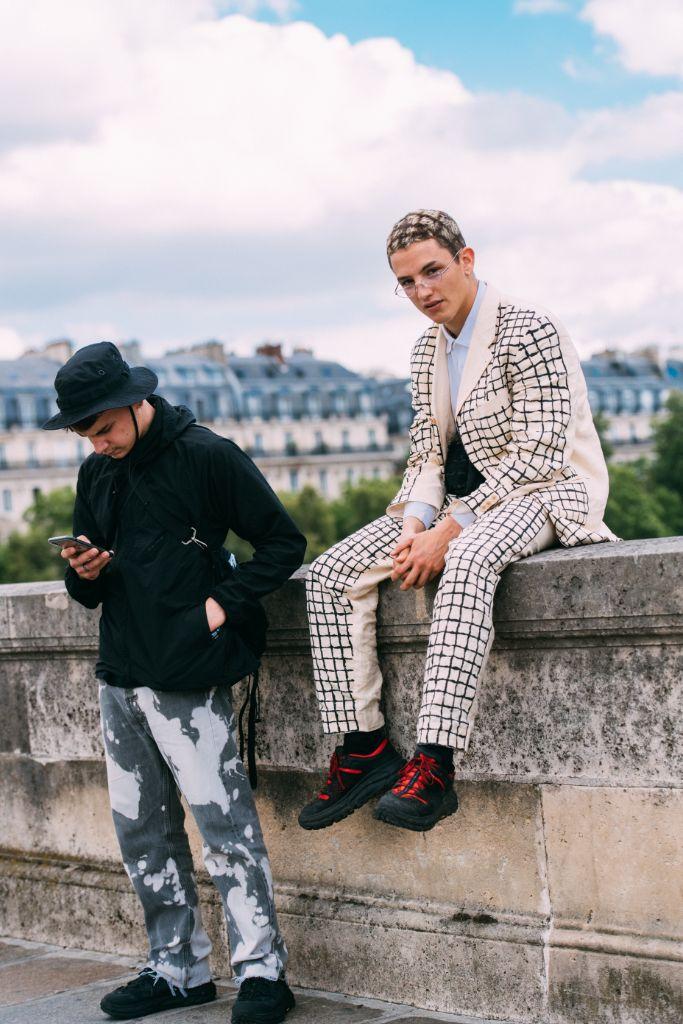 Camille Cabanis, street style, paris fashion week mens spring 2020, Hoka x Engineered Garments