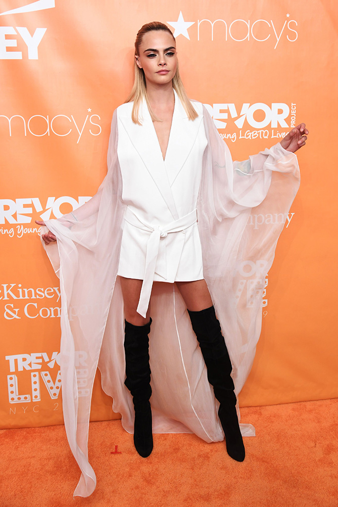 Cara DelevingneThe Trevor Project's TrevorLIVE Gala, Arrivals, Cipriani Wall Street, New York, USA - 17 Jun 2019TrevorLIVE is The Trevor Project's premier bi-annual galas, which celebrates The Trevor Project and our mission to end LGBTQ youth suicide. The galas bring together celebrities, corporate partners, and allies for a moving night to support LGBTQ youth in crisis. Wearing Balmain, Shoes by Christian Louboutin