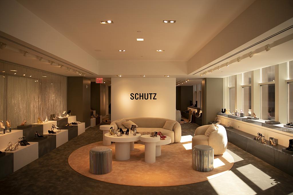 Schutz's showroom at the Arezzo & Co. headquarters