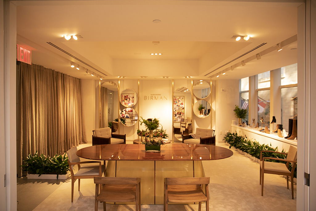 Alexandre Birman's showroom at the Arezzo & Co. headquarters