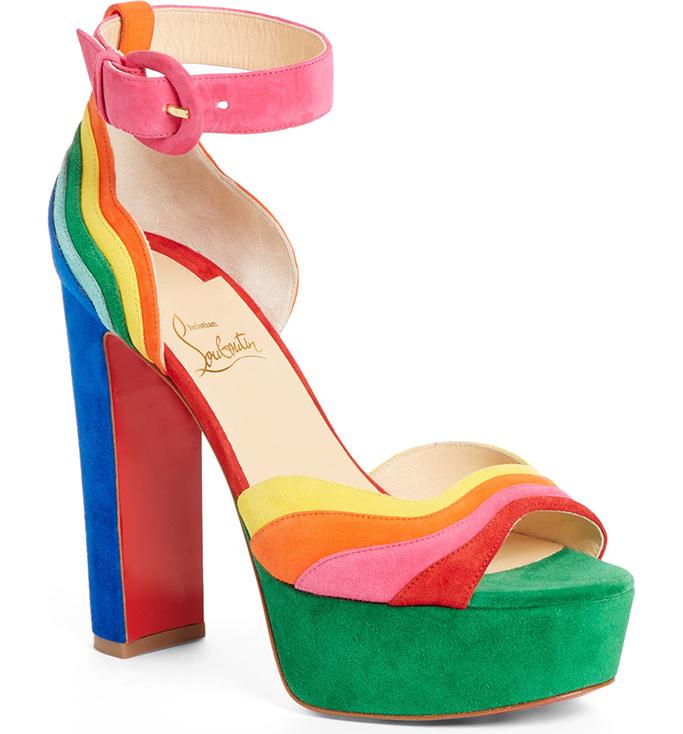 Degratissimo Alta Multicolor platform sandal christian louboutin, rainbow, pride