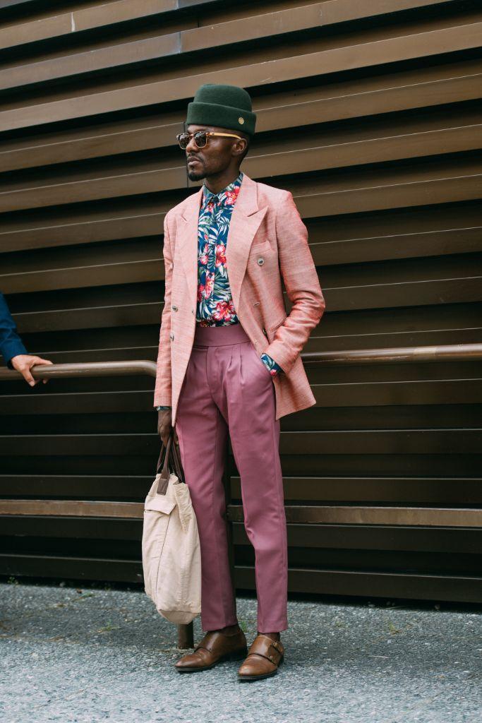 Craig Zoowie in Zara Pitti Uomo Spring '20 Street Style