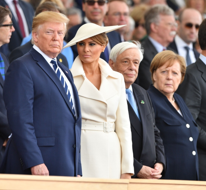 Donald Trump, Melania Trump, Prokopis Pavlopoulos and Angela Merkel