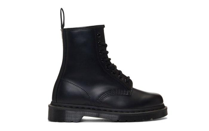 Dr. Martens black 1460 lace-up boots.