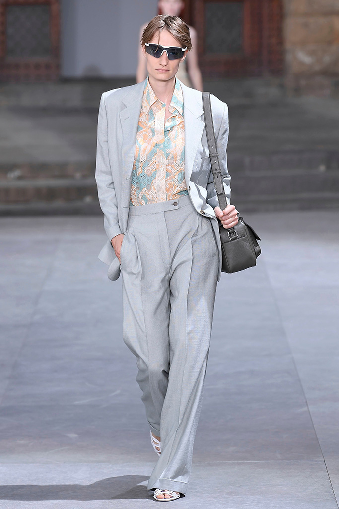 Model on the catwalkSalvatore Ferragamo, Runway, Pitti Immagine Uomo 96, Florence, Italy - 11 Jun 2019