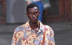 Model on the catwalkSalvatore Ferragamo, Runway,