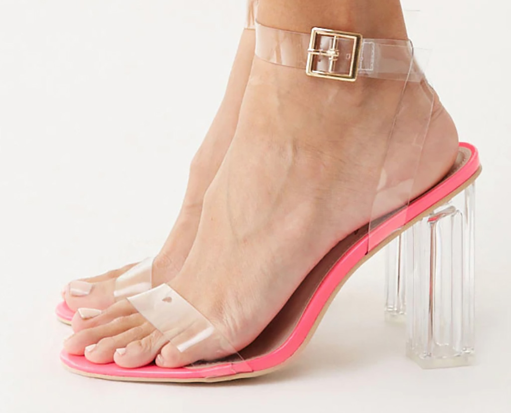 Baby Phat x Forever 21, lucite heels, sandals