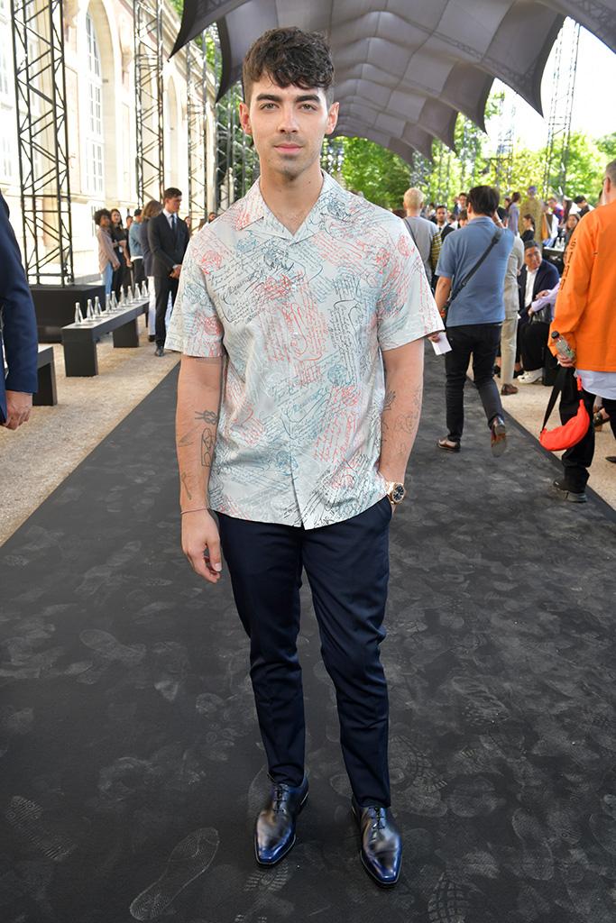 Joe Jonas in the front rowBerluti show, Front Row, Spring Summer 2020, Paris Fashion Week Men's, France - 21 Jun 2019