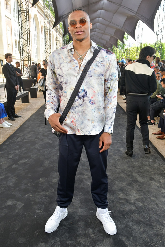Russell Westbrook in the front rowBerluti show, Front Row, Spring Summer 2020, Paris Fashion Week Men's, France - 21 Jun 2019