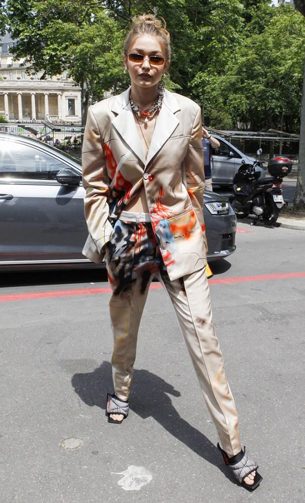 Gigi HadidGigi Hadid out and about, Paris Fashion Week Men's, France - 18 Jun 2019 Wearing Heron Preston